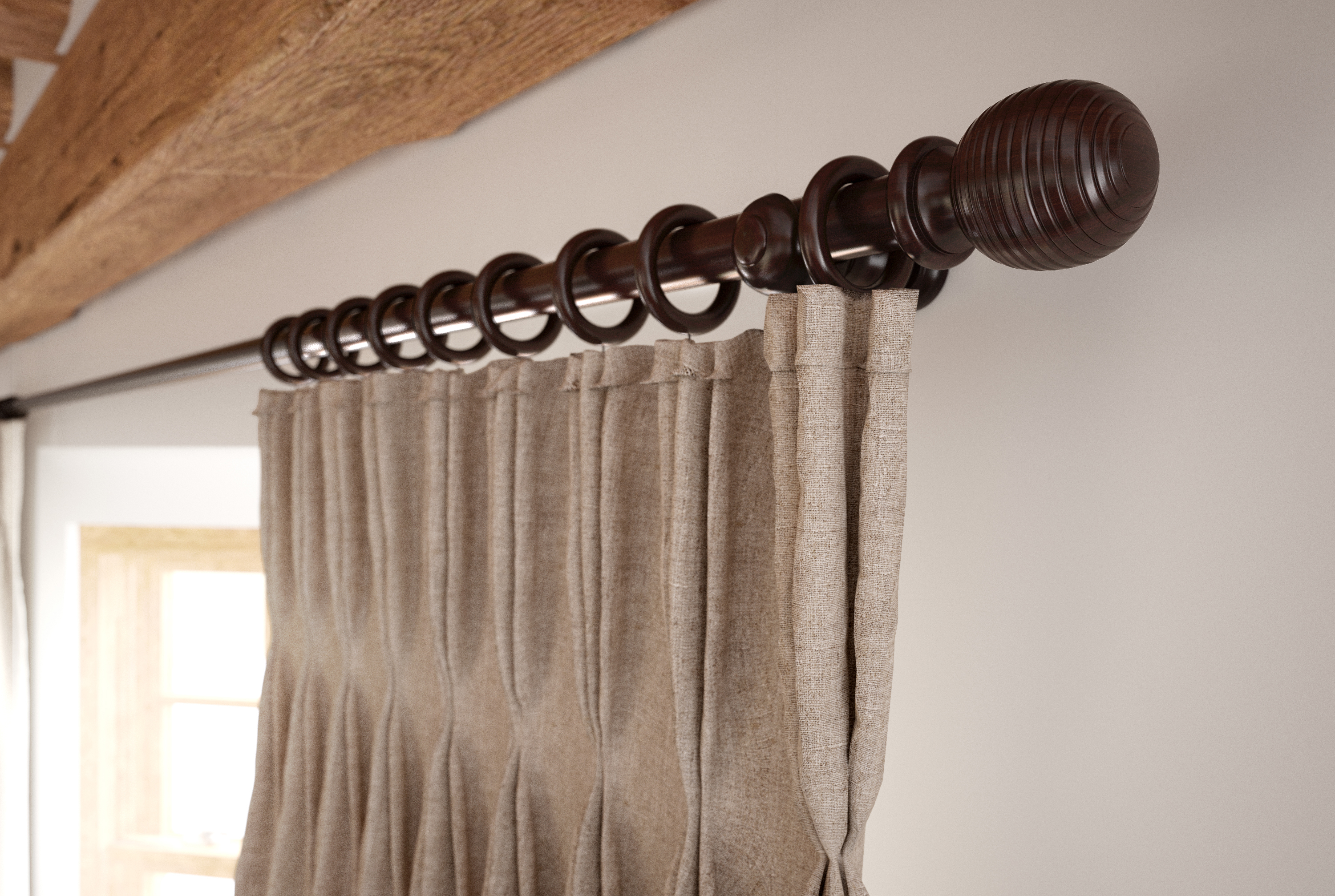 35mm Walnut Tatton Pole Close Up<div style='clear:both;width:100%;height:0px;'></div><span class='cat'>Speedy Products</span>