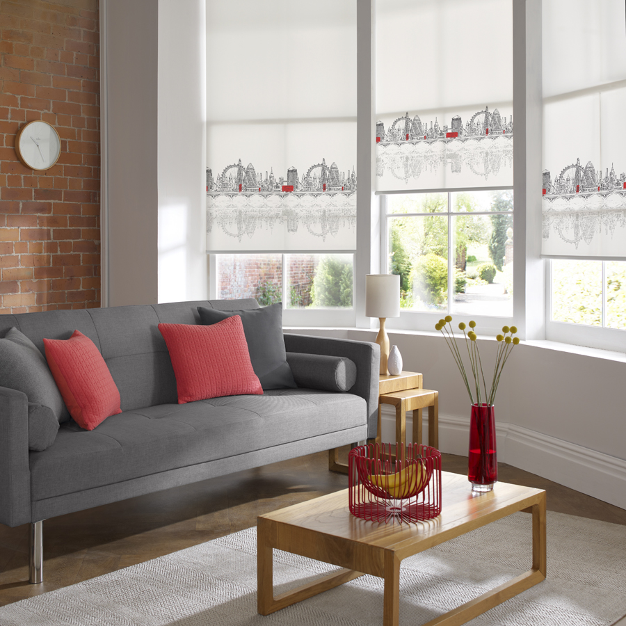 Roller Blind DQ Skyline London Living Room<div style='clear:both;width:100%;height:0px;'></div><span class='cat'>Blinds, Roller & Pleated</span>