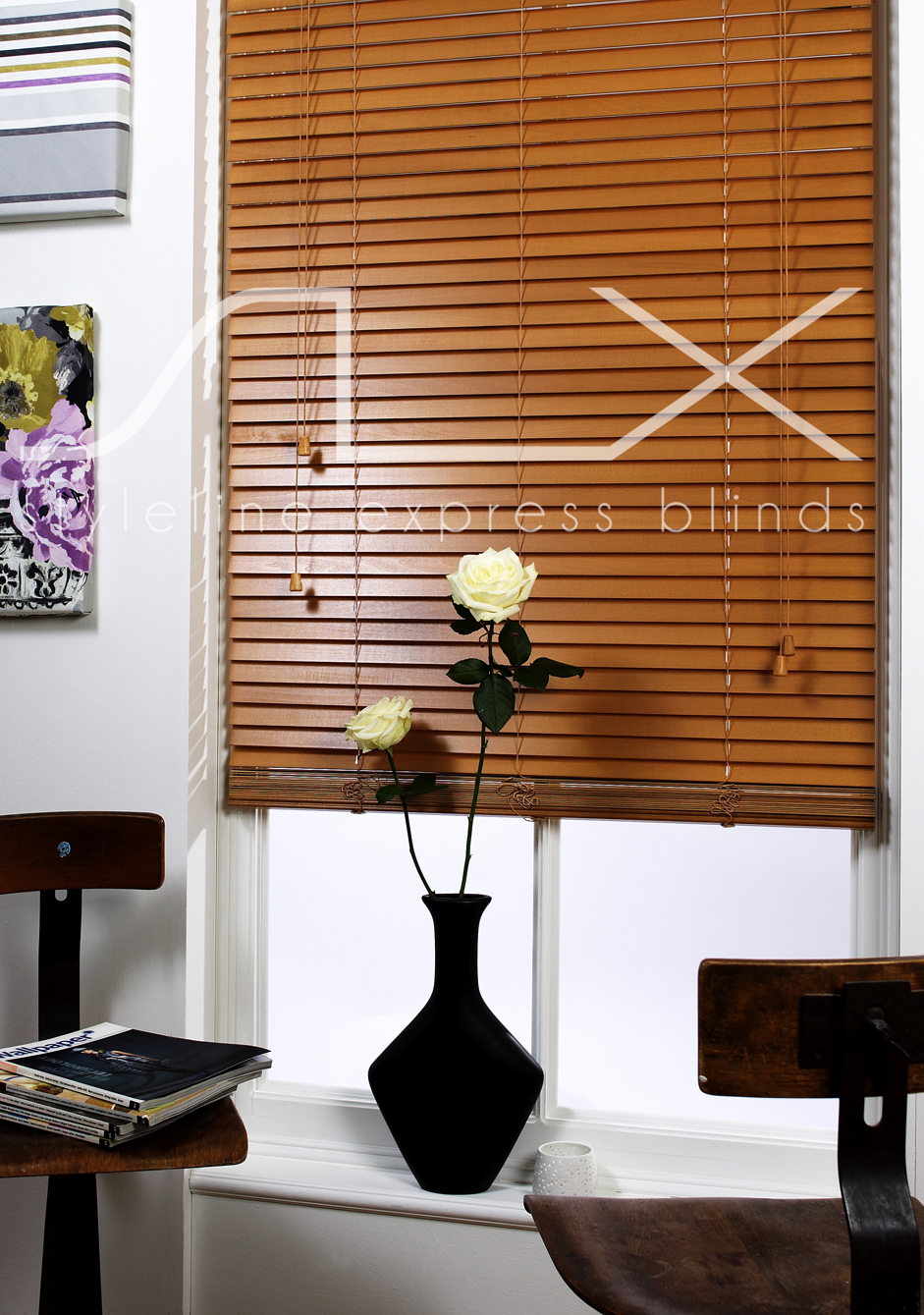 SLX Wood Blinds - 35mm Sugar Maple Blind with String<div style='clear:both;width:100%;height:0px;'></div><span class='cat'>Venetian Blinds, Blinds</span>