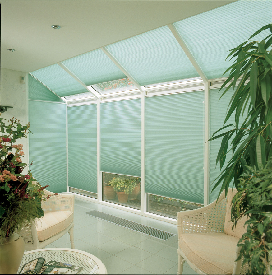PLEATED DUETTE blinds Stevens conservatory<div style='clear:both;width:100%;height:0px;'></div><span class='cat'>Roller & Pleated, Blinds</span>