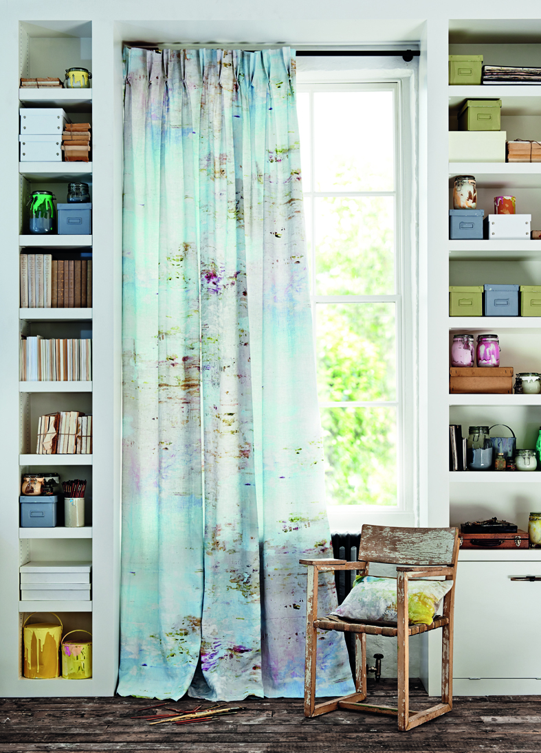 Twin Pinch in Romo Jessica Zoob Desire <div style='clear:both;width:100%;height:0px;'></div><span class='cat'>Curtains Pelmets</span>