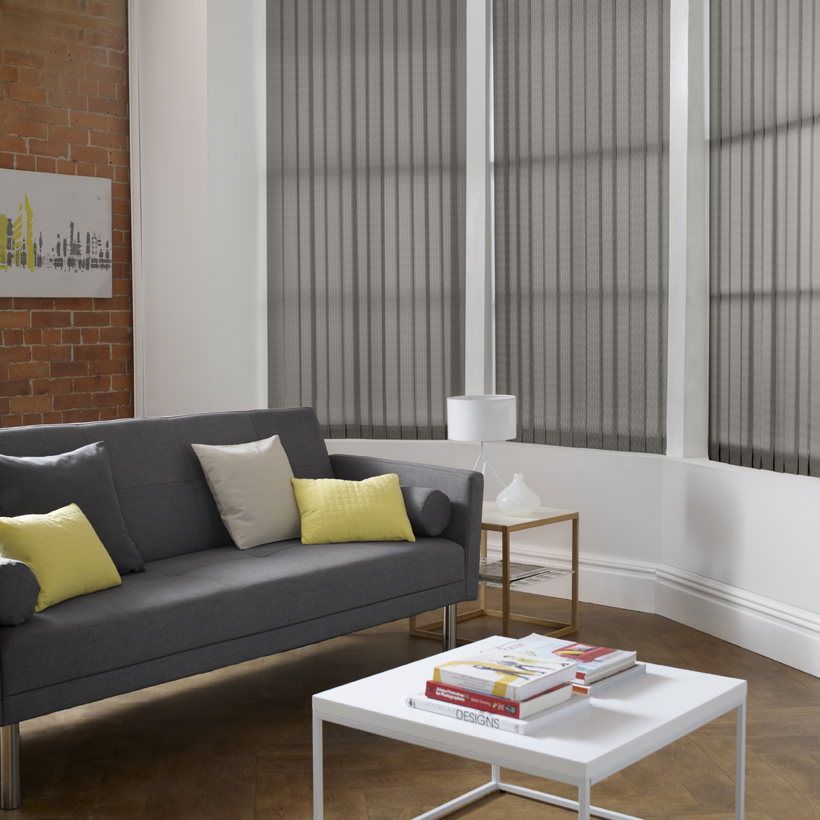 Vertical DQ Vector Concrete Living Room <div style='clear:both;width:100%;height:0px;'></div><span class='cat'>Vertical Blinds, Blinds</span>