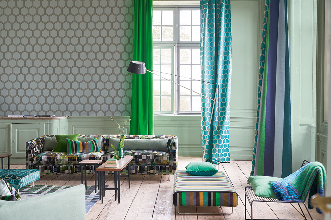 Designers Guild Zardozi, Zardozi curtains, Chandigrarh, Chandigarh sofa, Foot stool Left Zardozi & Foot stool right Chandigarh, Verese Lambusa <div style='clear:both;width:100%;height:0px;'></div><span class='cat'>Designers Guild</span>