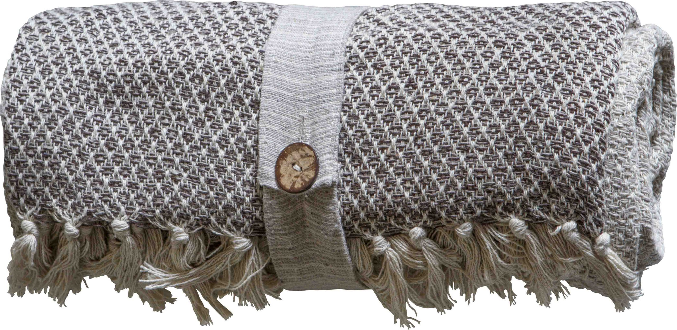 Cotton Diamond Throw Natural Dible Roy Interiors